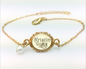 Name Bracelet, Personalized Name Jewelry, Gold Name Bracelet, Custom Name Bracelet, Gold Name Bracelet, Bracelet With Name