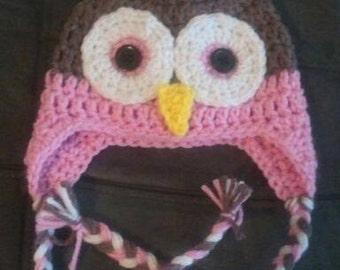 Owl Earflap Beanie