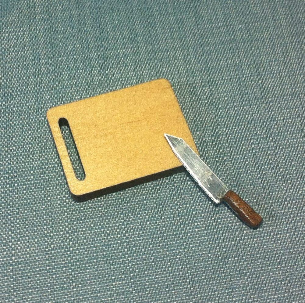 Set knife wooden cutting board tray kitchen cooking for Kitchen knife set of 7pcs with cutting board