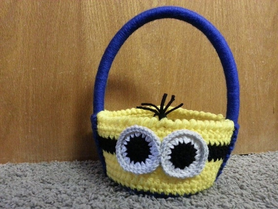 Crochet Pegman Multi Purpose Basket Halloween Easter Room Decor Organization OR Gift Basket