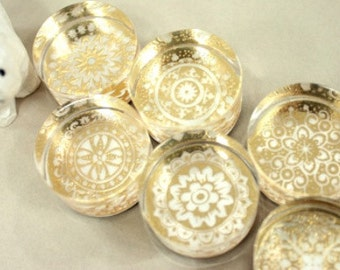 Vintage style crystal rubber stamp for DIY crafts projects