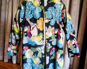 Vintage Chinese Deco 3/4 Coat From the 1930s-40s
