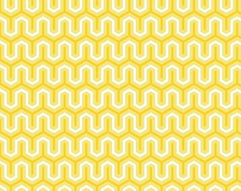 Sweet Zig Zag Yellow by Riley Blake - 1 yard
