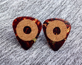 Cork Grip Guitar Pick Cufflinks