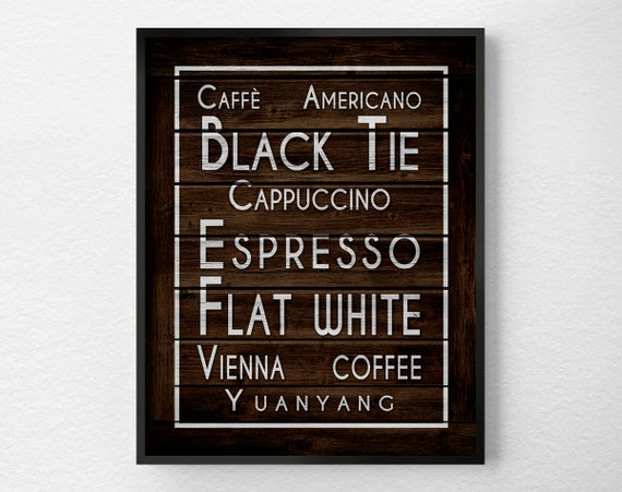 Coffee Art Rustic Kitchen Print Kitchen Wall Art Coffee Decor