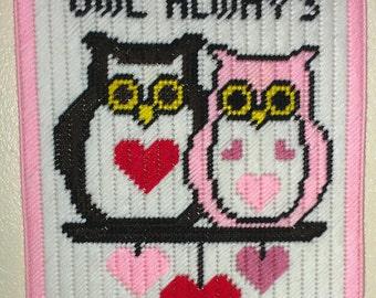 Owls In Love Wall Hanger