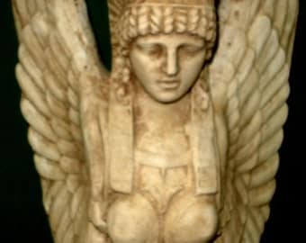 Egyptian Winged Isis Wall Sculpture Art Home Decor