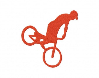 INSTANT DOWNLOAD Freestyle Bike Bicycle Silhouette Machine Embroidery Design