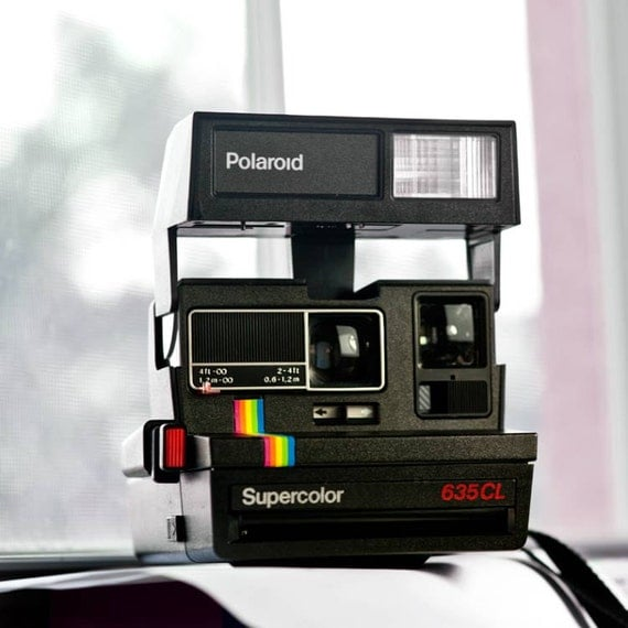 polaroid supercolor 635 cl camera film tested working. Black Bedroom Furniture Sets. Home Design Ideas
