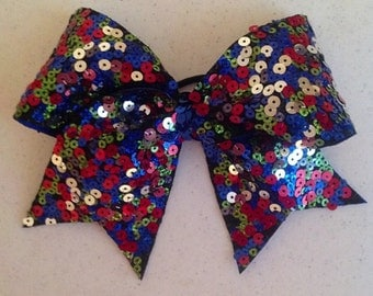 Multi color sequined bow