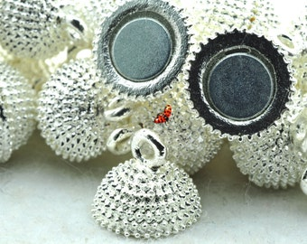 Silver plated Magnetic Clasp 12x19mm,10 Set