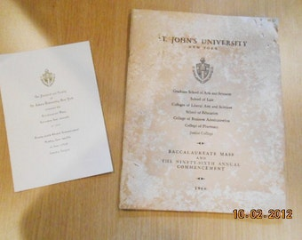St. John's University 1966 Graduation Program