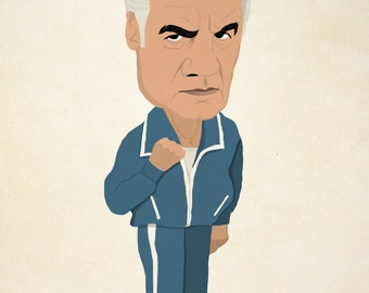 Paulie Walnuts from The Sopranos A4 illustration