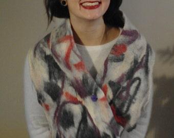 handmade felted shawl