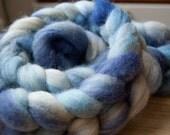 "BFL Roving ""Blue Batik"""