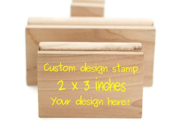 Custom stamp, Logo stamp, Custom logo stamp, Business card stamp 2 x 3 inches personalized stamp