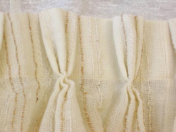 White Burlap Curtains - White Linen And Burlap Ruffles ...