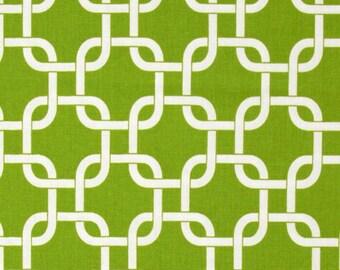 Green Draft Stopper.Green Chain link Door Snake. Green and White  Draft Stopper. Green Door Stopper.