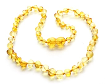Authentic baltic amber baby teething necklace.  31-32 cm/12.2-12.6 in