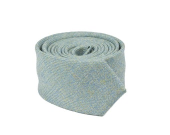 The Speckled Aqua - 100% Scottish wool neck tie in aqua blue twill