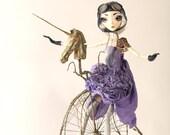 Chloe Go Round - art doll  RESERVED for Alvinia