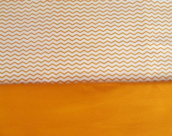 Car Seat Blanket - Swaddle - Stroller Blanket - Orange Chevron