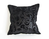 Black Pillow-Velvet Pillow-Decorative Modern Throw Pillow Cover - Modern Home Decor - PillowMarket
