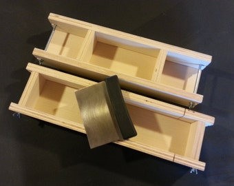 4 Lb Adjustable SOAP MOLD and Bar CUTTER, Cold Process Loaf Molds Wooden Wood