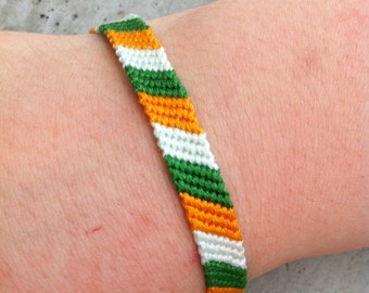 The Irish Flag Friendship Bracelet