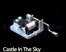 "Mechanical Hand Crank Musical Box/Music Box Movement Craft DIY Accessories Melody ""Laputa"" - Castle In The Sky"