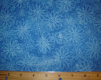 Blue Flowers Fabric Traditions