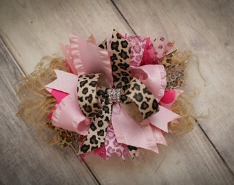 Leopard/Pink BOW