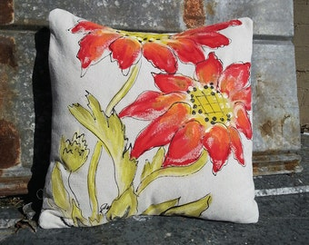 New Design Hand-painted Spring and Summer Flower Pillow Cover