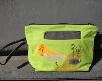Green Clutch Bag Urban Glam