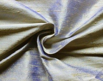 SALE! BULK DISCOUNTS on Blue/Gold Silk Dupioni