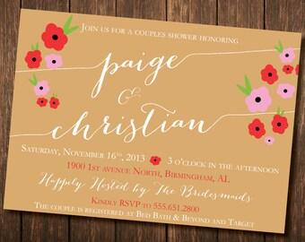 Couples Shower/ Wedding Invitation