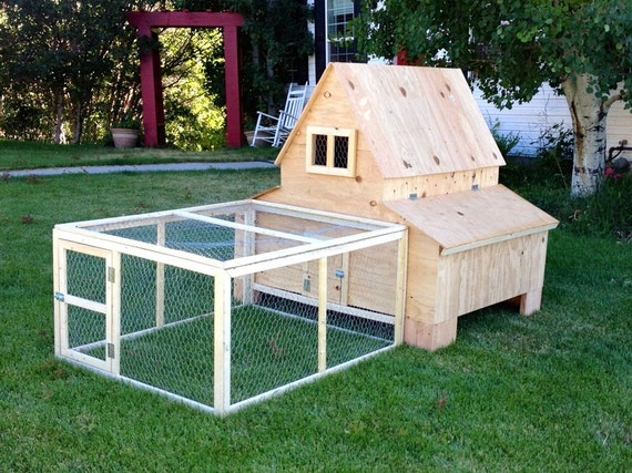 Chicken Coop with Run - Super Cute