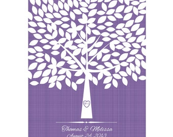 Wedding Guest Book Alternative, Wedding Signature Tree, Guest Book Wedding Tree, Guestbook Print, 175 Guests 16 X 20