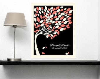 Wedding Signature Tree, Wedding Guest Book Tree Print, Guest Book Wedding Tree, Guestbook Alternative, 100 Guests