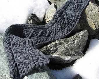 PDF Download Scarf Knitting Pattern/Cable Scarf Pattern/Reversible Cable Scar...