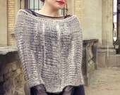 capelet shrug - winter clothing - knit capelet - knit cape - fall fashion - woman clothing - oatmeal