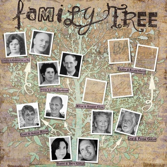 family tree template - vintage genealogy template