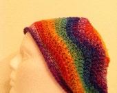 Ripple beanie (calypso), slouchy beanie, crochet slouchy hat, winter hat