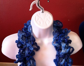 Truffles scarf (blue), winter wear, woman's scarf, winter accessory, knit scarf