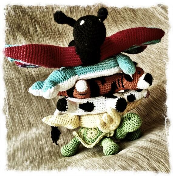 Crochet Amigurumi Ring : Ring Stacking amigurumi Animal- Arium. Ring stacka and ...