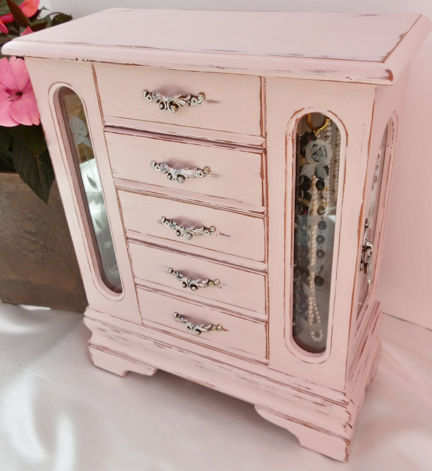 Upcycled Jewelry Box Distressed Painted In Annie Sloan Chalk