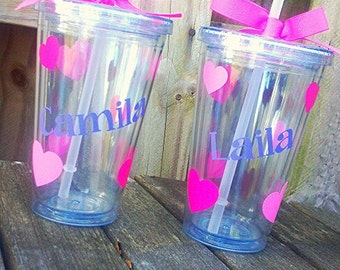 Valentine's Day Tumbler with Name; Valentine's Day; Love;