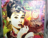 Vintage Multi Color Audrey Hepburn Decorative Wall Picture - 4evrVintage