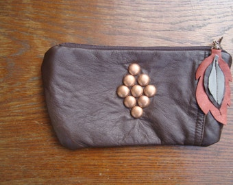 Leather Wallet Clutch Pouch