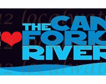 Caney Fork River We Love Caney Fork River Decal Sticker (Pack of 2) or magnet (Pack of 1)